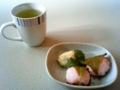 ティータイムにいただいたお茶と菓子2