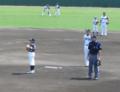 イースタンリーグ日ハム対巨人始球式