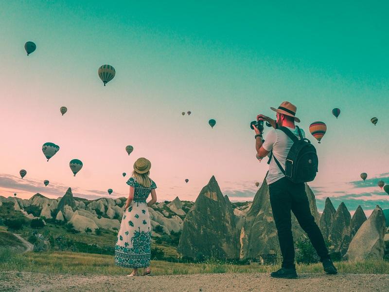 旅行先の気球