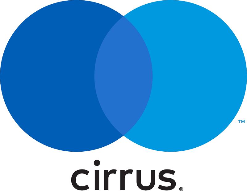 cirrus、MasterCard