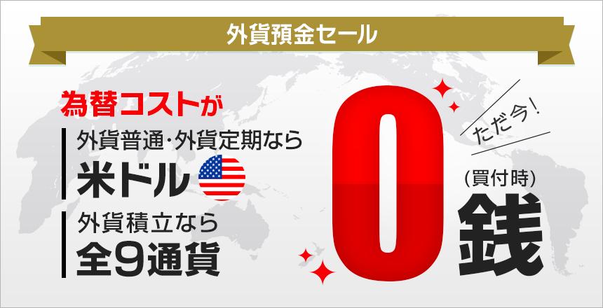 住信SBIネット銀行の外貨買付手数料無料キャンペーン