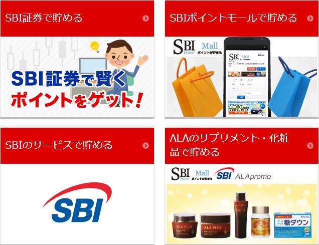 SBI証券以外でのSBIポイントの貯め方