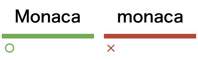 どのような表現・表記が正解なのか?で統一する例