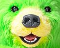 サランラップのクマの目