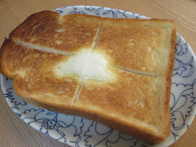 バルミューダで焼いたトースト