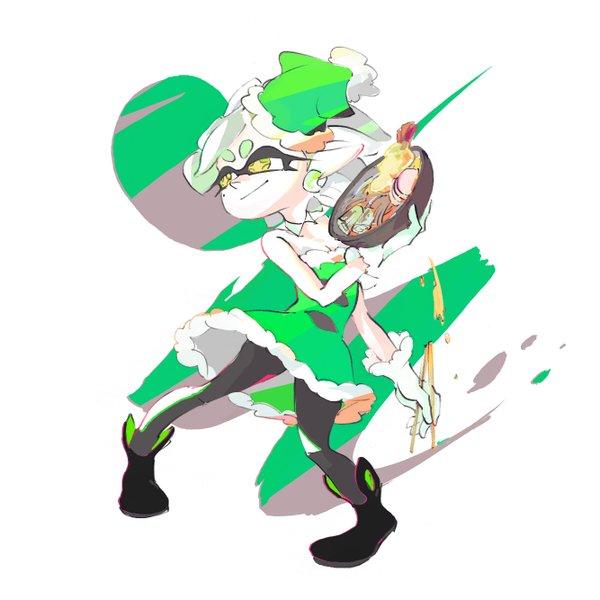 フェスイラスト緑のたぬき2