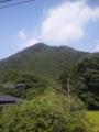 鬼怒川温泉行く途中で見た山←