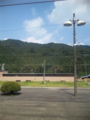 鬼怒川温泉行く途中の駅の風景