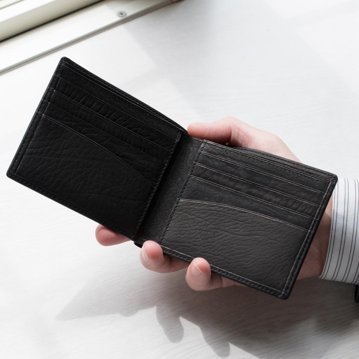 カーフレザー・二つ折り財布