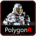 Sci Fi Space Soldier PolygonR