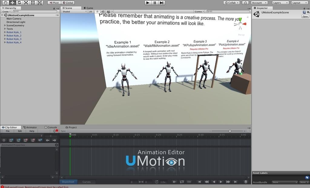 UMotion レイアウト