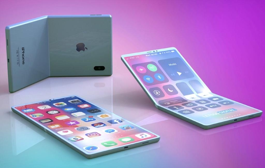 折り畳みディスプレイ搭載iPhone