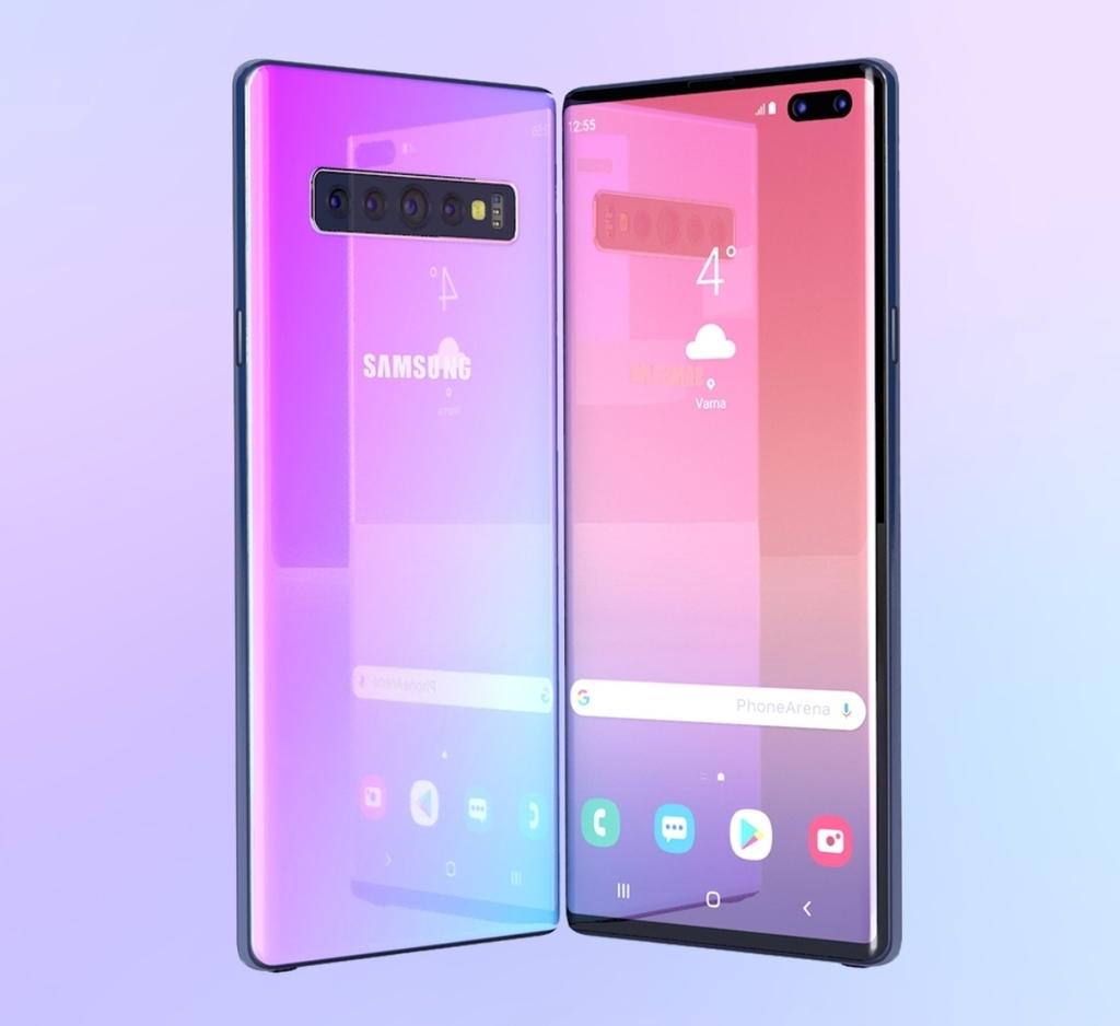 「Galaxy Note 10」の3Dレンダリング画像
