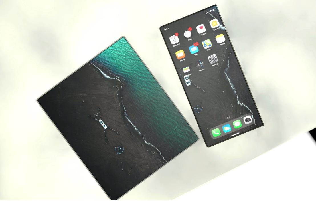 折り畳みディスプレイ搭載のiPhoneコンセプトデザイン