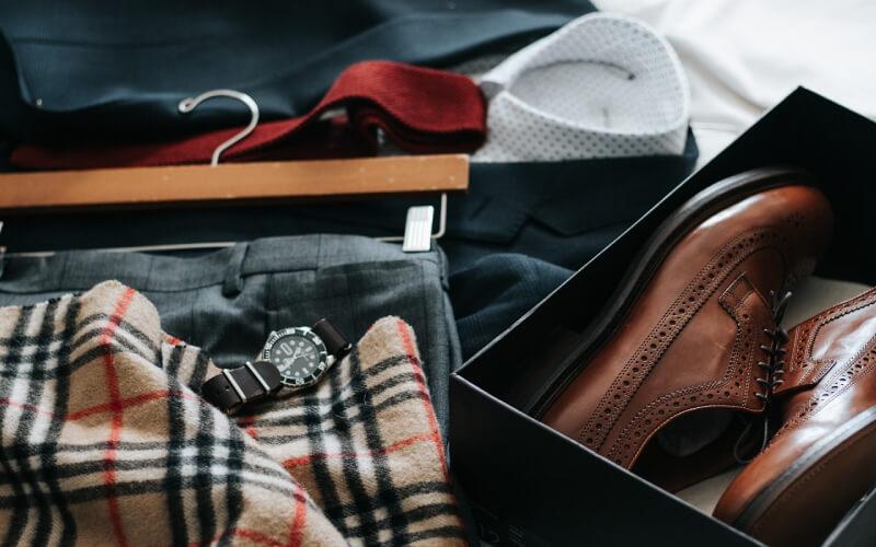 マフラー・靴 ファッション