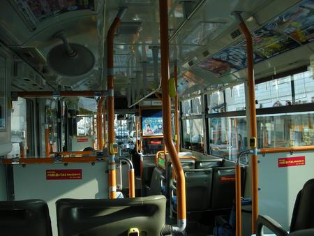 両備バス車内