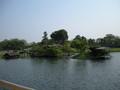 岡山後楽園には島がある