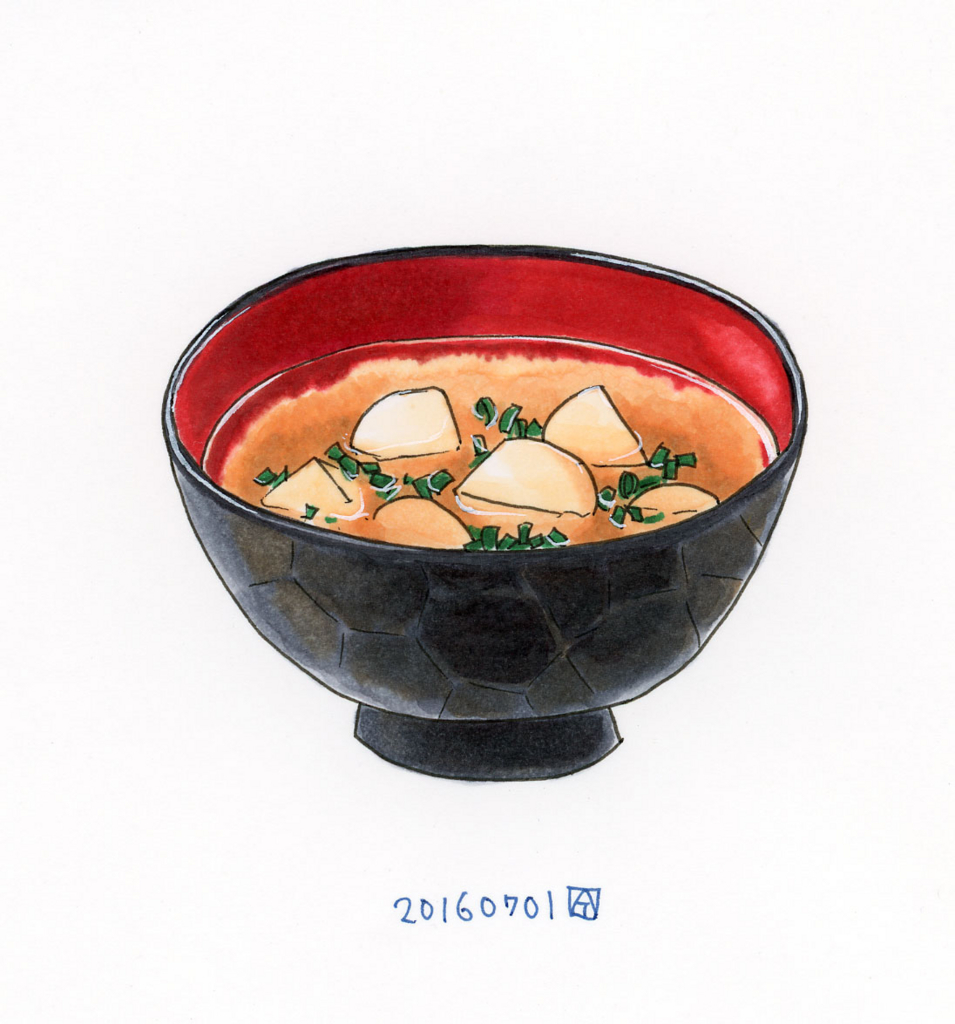 トントン豆腐の味噌汁