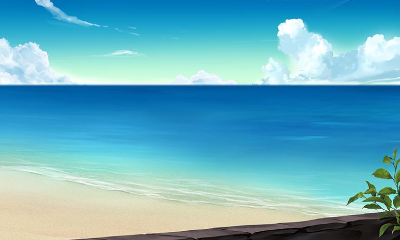 Cg 背景イラスト 夏の海 あたも技術ブログ