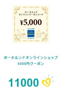 ボーネルンドオンラインショップのクーポン5,000円