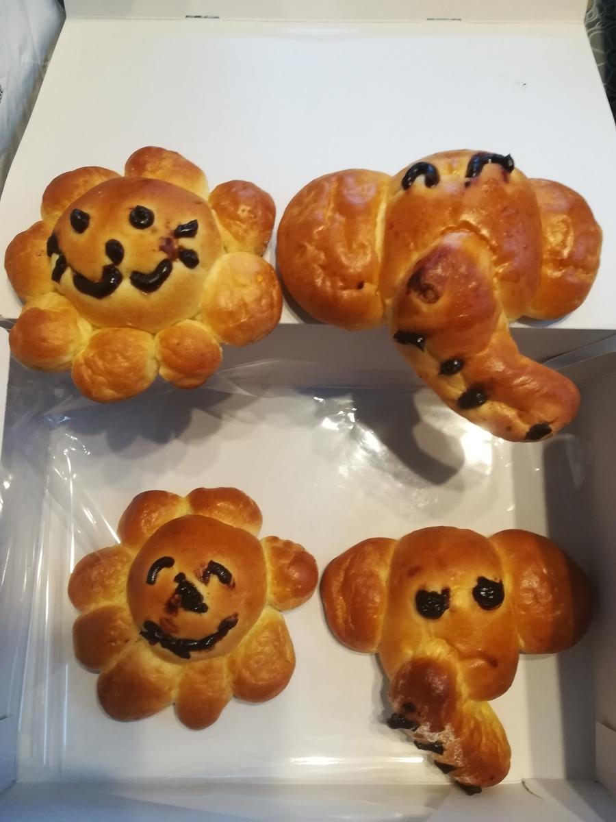 ドンク親子パン教室 ぞうさんとライオンさんのパン