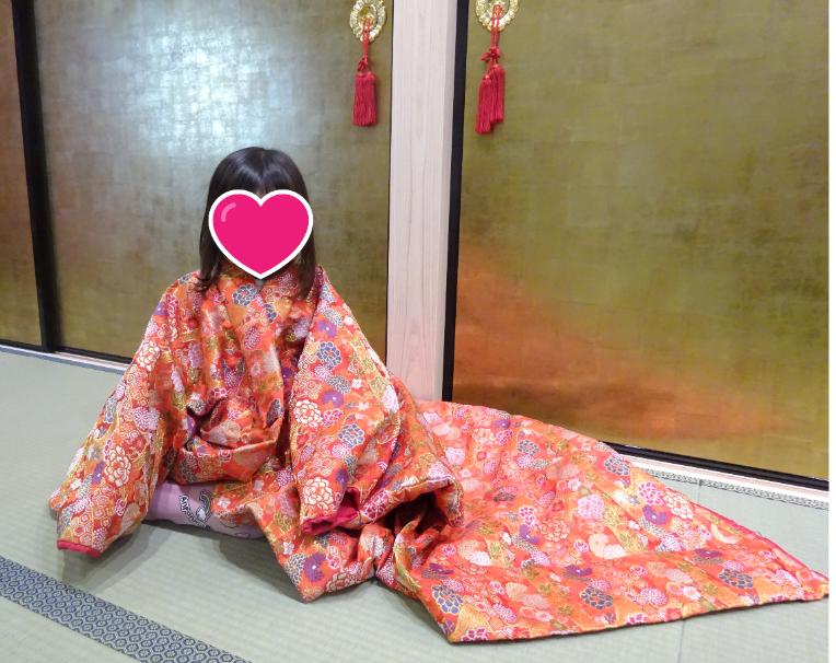 尼崎城にて 着物を着てお姫様写真