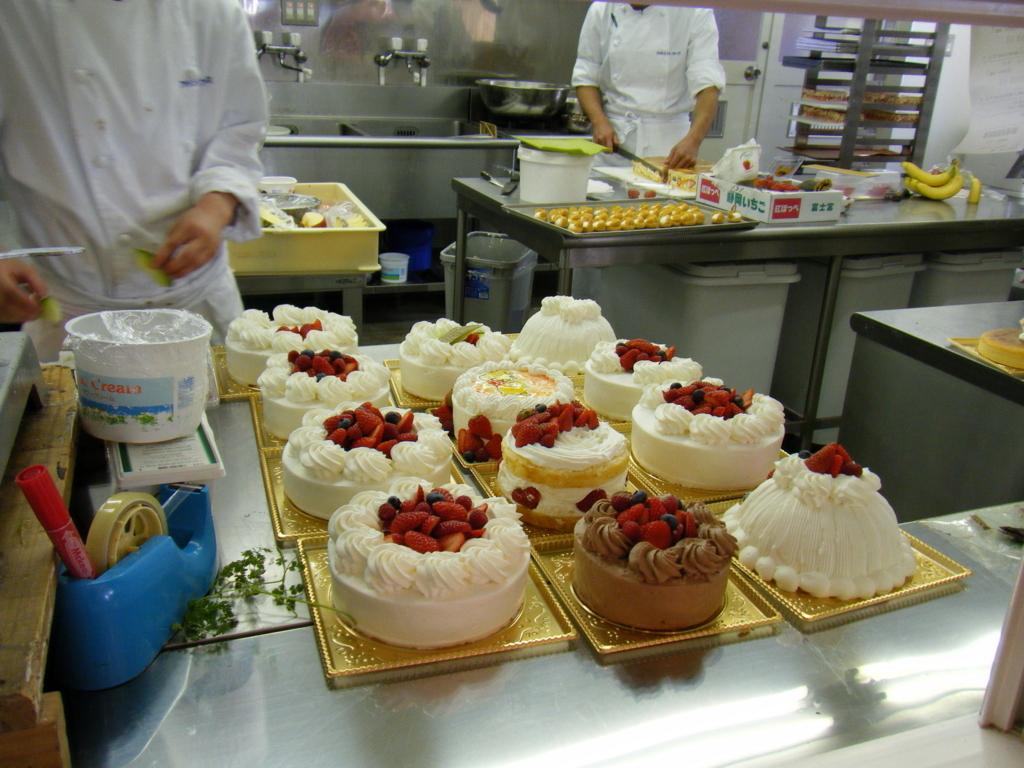ケーキ屋,仕事