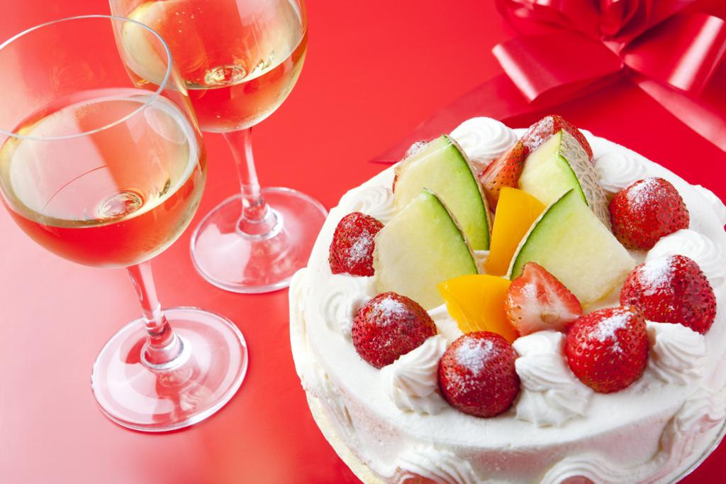 お酒,ケーキ
