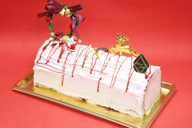 【クリスマス限定】苺の切り株 18cm