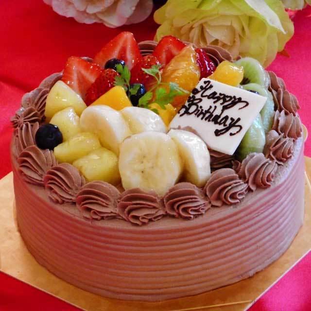 ≪スイーツガイド限定≫デコレーションチョコケーキ フルーツ増量