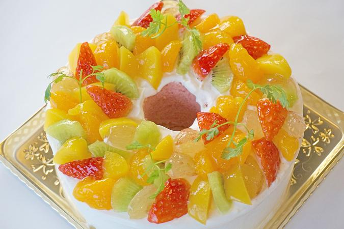 バースデーケーキ シフォン(桜)
