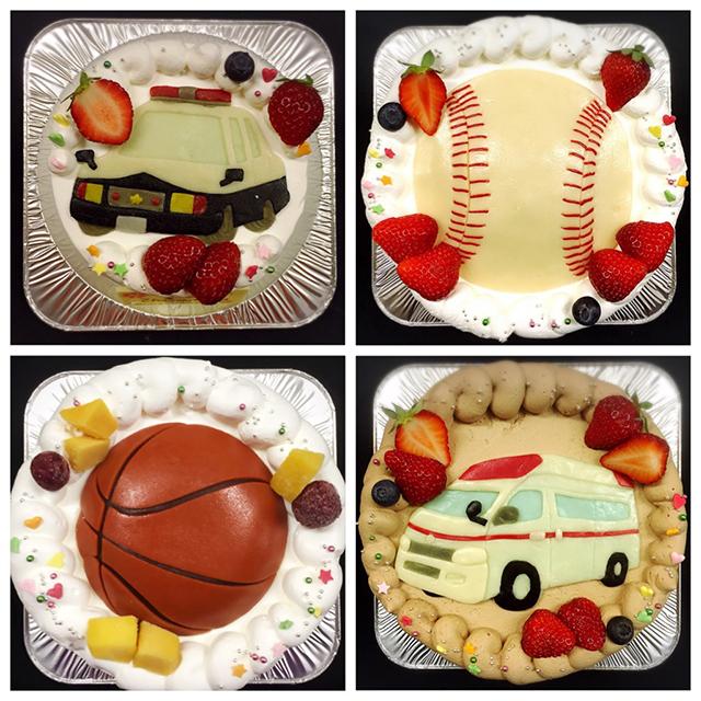 マジパンイラストケーキ