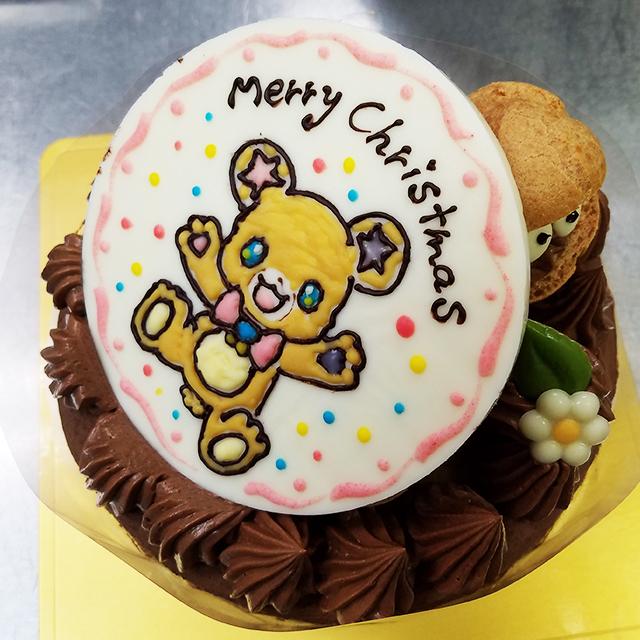 キャラクタープレートチョコケーキ