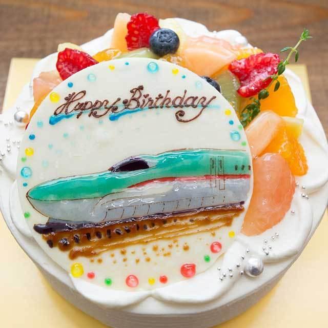 季節のフルーツケーキのイラストケーキ