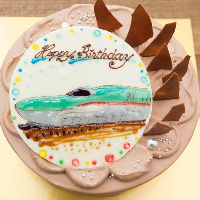 チョコレートケーキのイラストケーキ