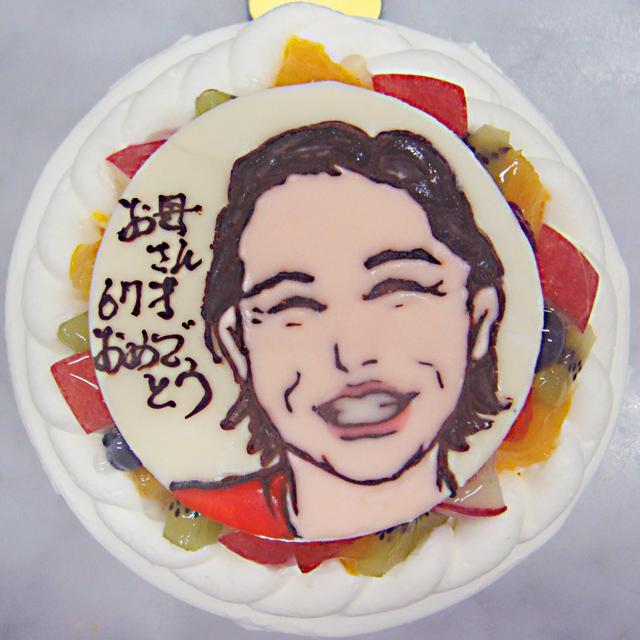 イラストプレート付きデコレーションケーキ(生クリーム)