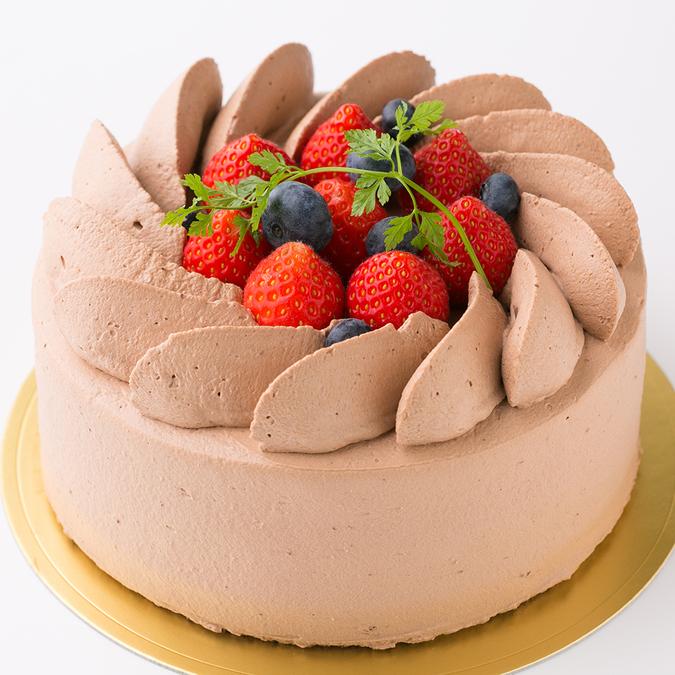 苺のチョコクリームケーキ