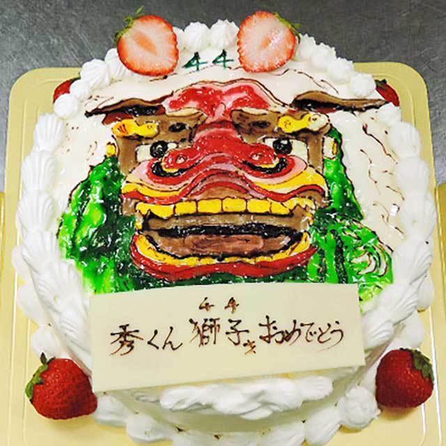 イラスト生クリームデコレーションケーキ