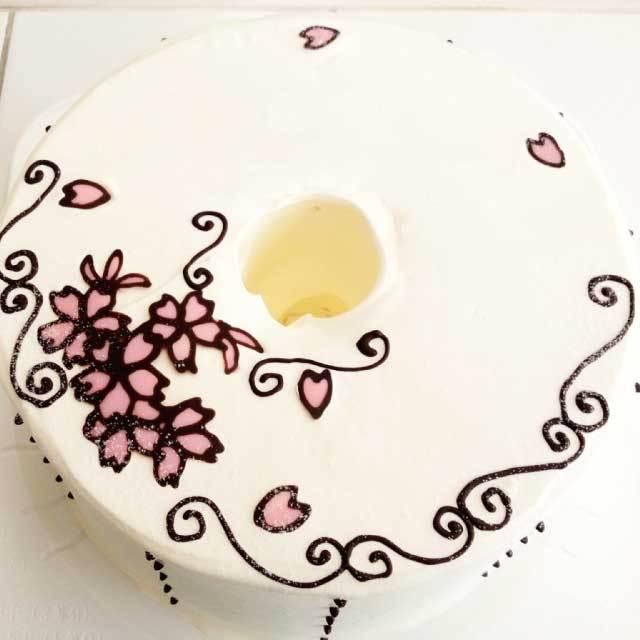 お手紙ケーキ(サクラ)