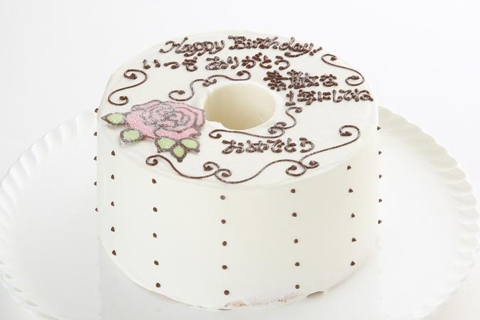 お手紙ケーキ(バラ)