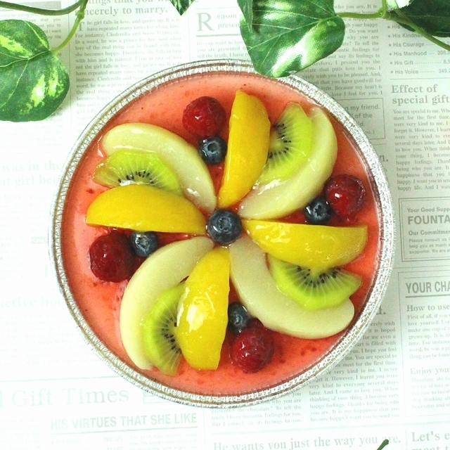 フルーツMIXレアチーズケーキ(チョコプレート付き)