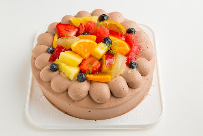 生チョコフルーツケーキ4