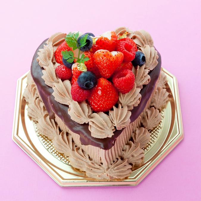 ハート型生チョコデコレーションケーキ5