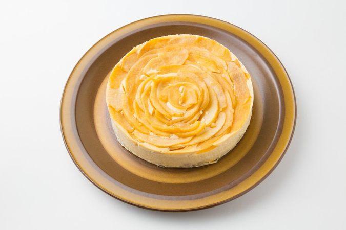 リンゴのチーズケーキ