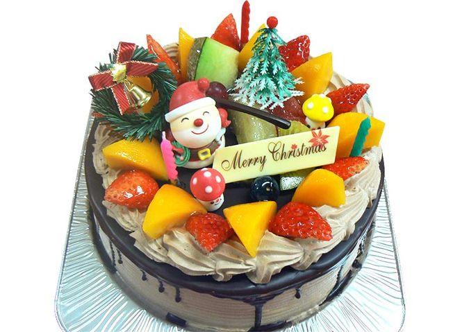 アレルギー対応クリスマスケーキ(チョコクリーム)
