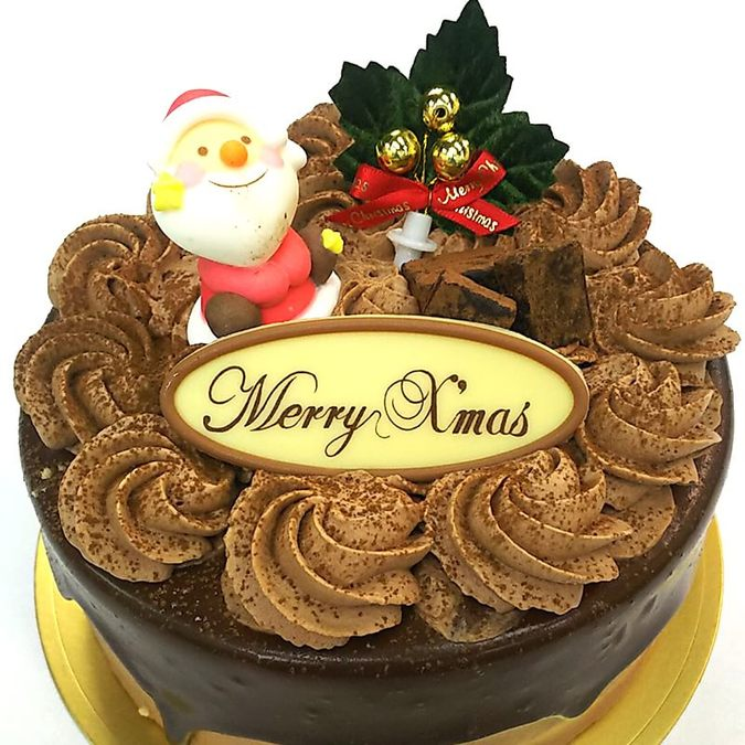 生チョコレートケーキクリスマス