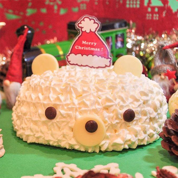 くまサンタケーキ