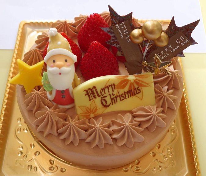 いちごのクリスマスケーキ(チョコクリーム)