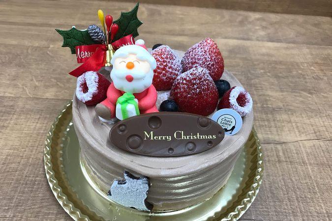 クリスマス生チョコショートケーキ
