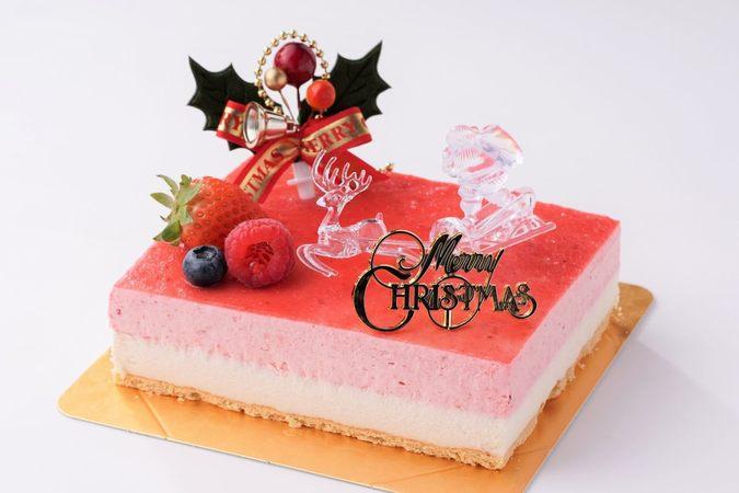 低糖質でクリスマス/苺ココナッツ 18cm×17cm